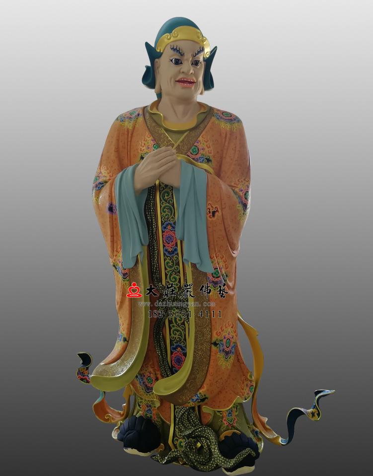 铜雕四大天王之八大眷属彩绘佛像