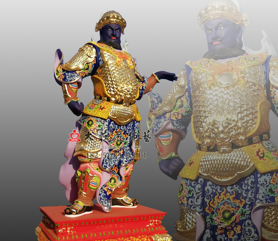 彩绘甲戌神将展子江侧面神像