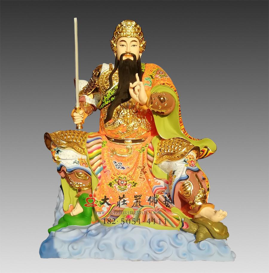 铜雕真武大帝彩绘神像