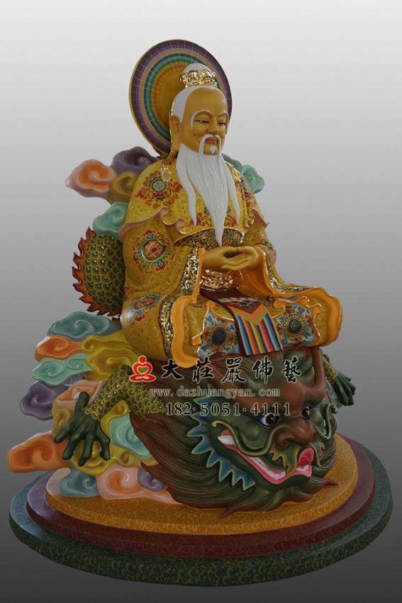 鸿钧老祖侧面彩绘神像