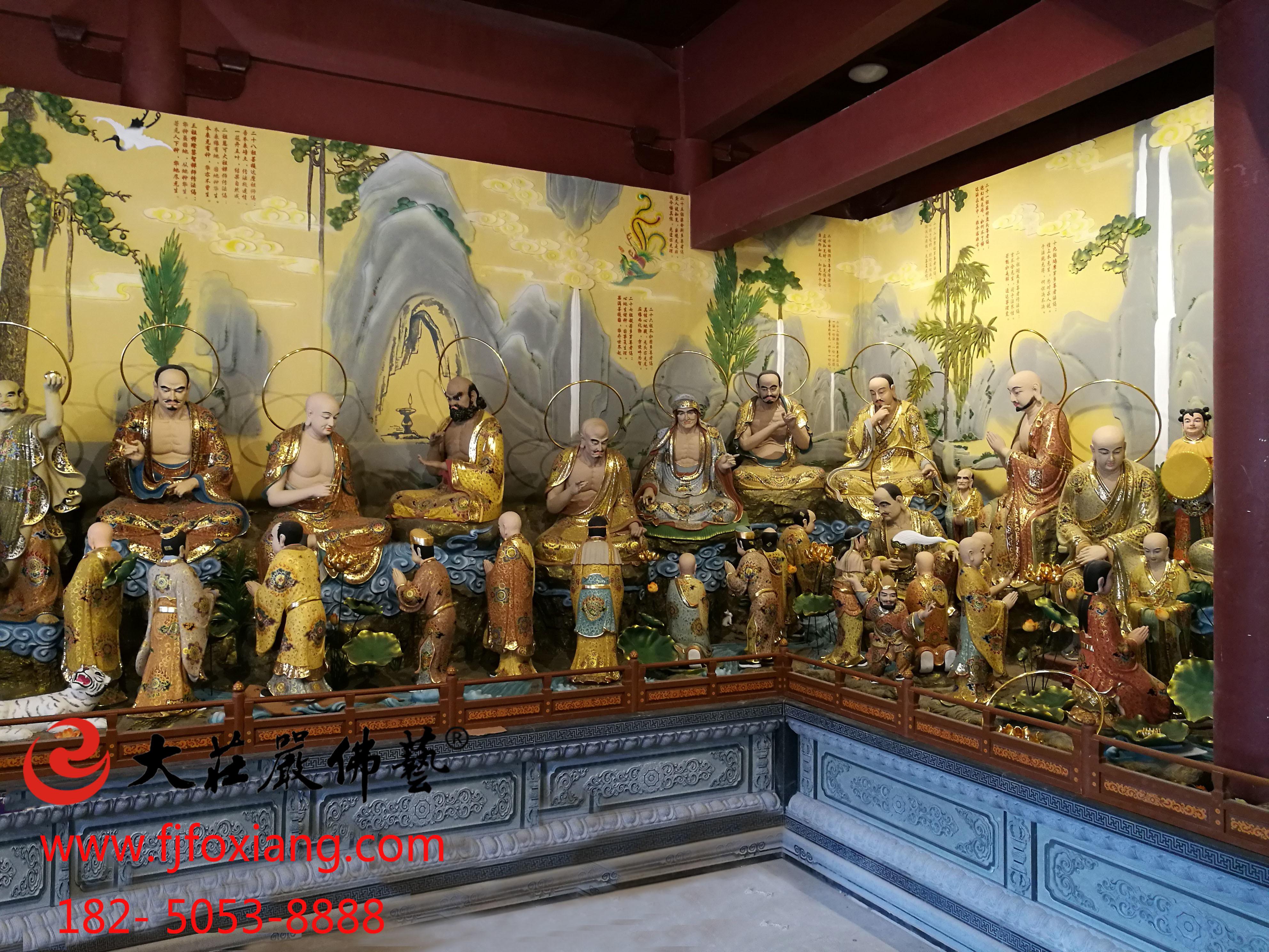 金华智者寺33祖师像