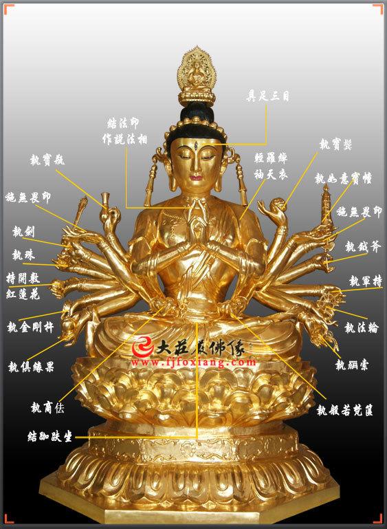 铜雕准提菩萨