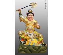 铜雕监斋菩萨彩绘描金塑像