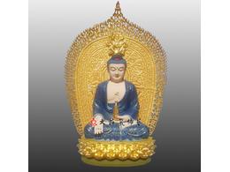 铜雕东方三圣之药师佛像