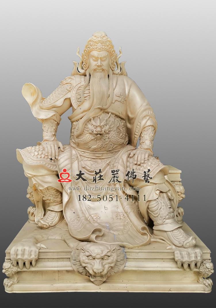 铜雕关公神像