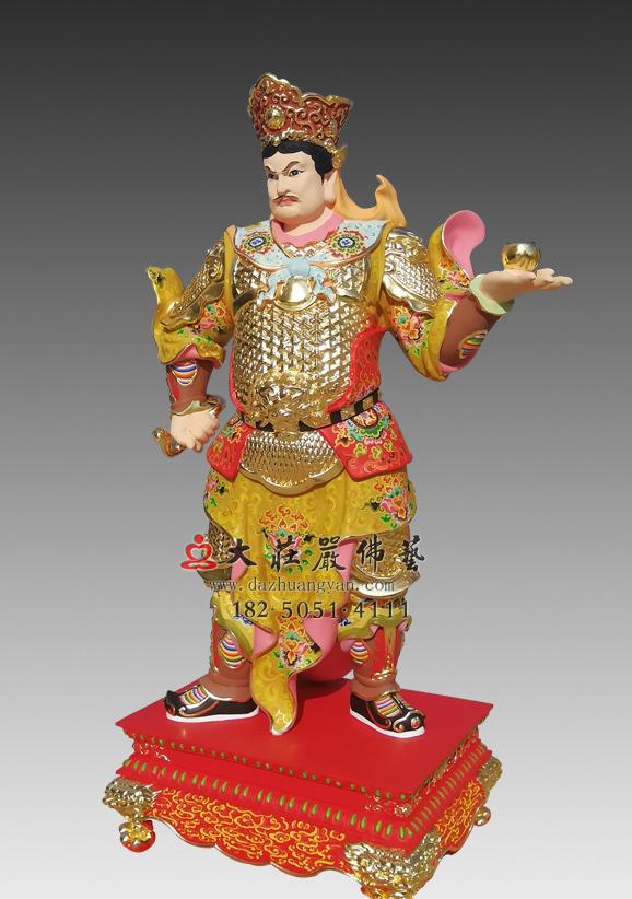 丁巳神将崔石卿铜雕神像