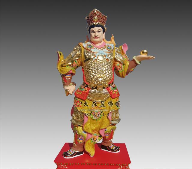 丁巳神将崔石卿彩绘铜雕神像