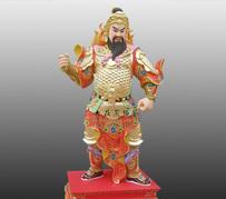 甲辰神將孟非卿彩繪銅雕神像