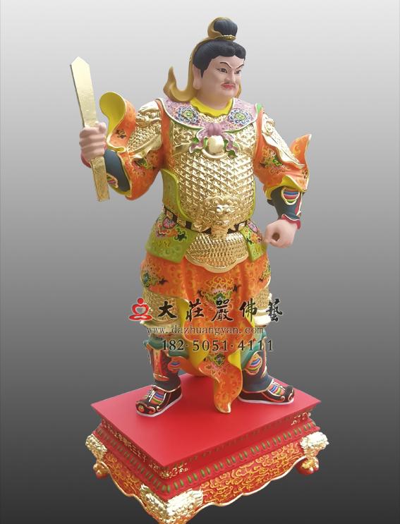 铜雕甲申神将扈文长神像