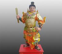 甲申神將扈文長彩繪銅雕神像