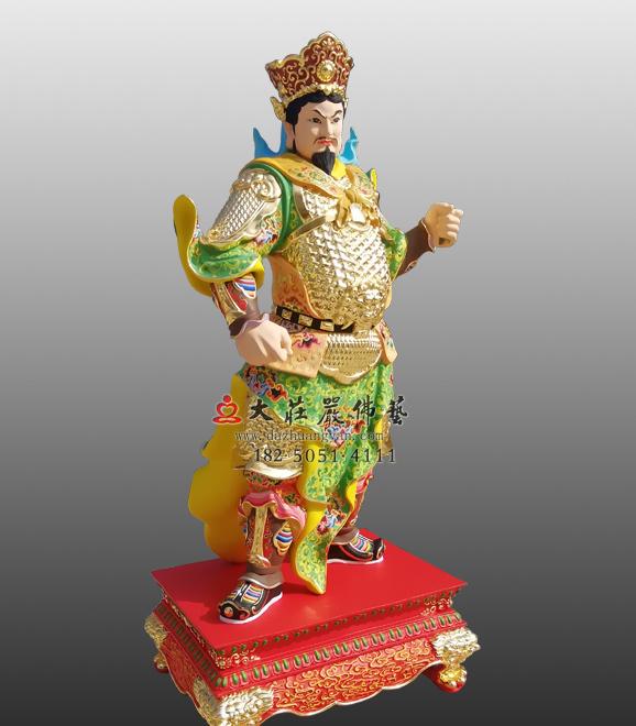 铜雕彩绘甲午神将韦玉卿