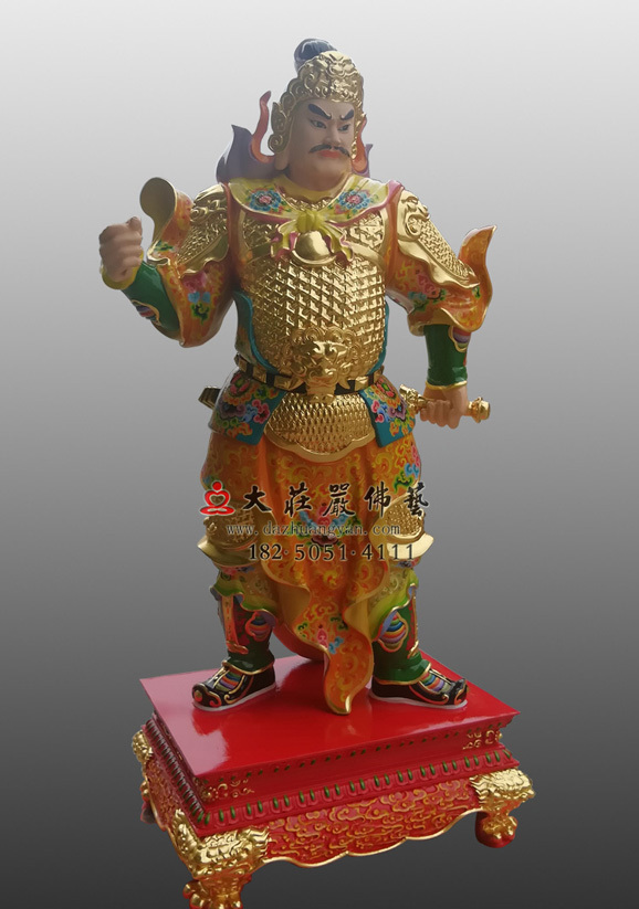 铜雕彩绘甲子神王文卿