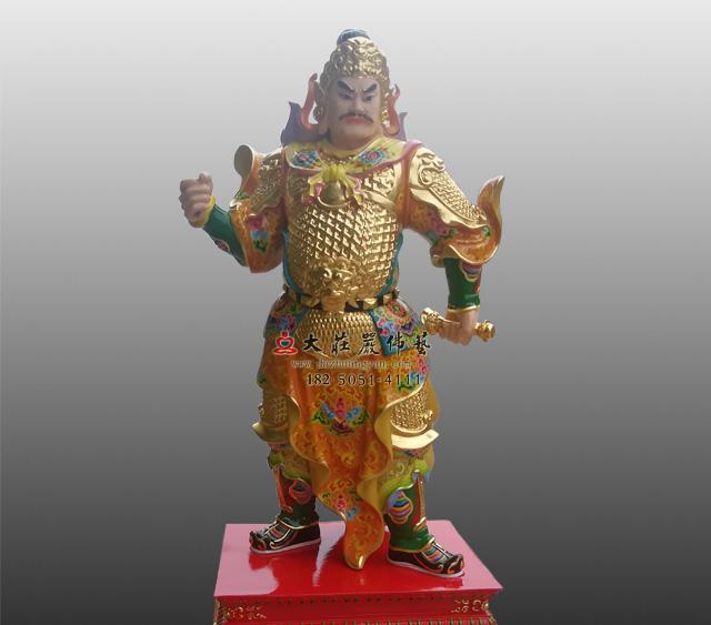 甲子神王文卿彩绘铜雕神像