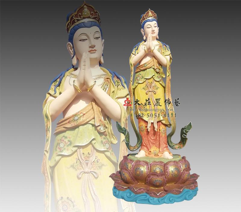 八大菩萨之观音菩萨彩绘铜雕佛像