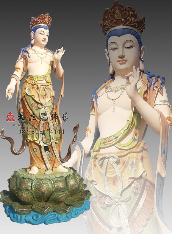 八大菩萨之弥勒菩萨彩绘佛像