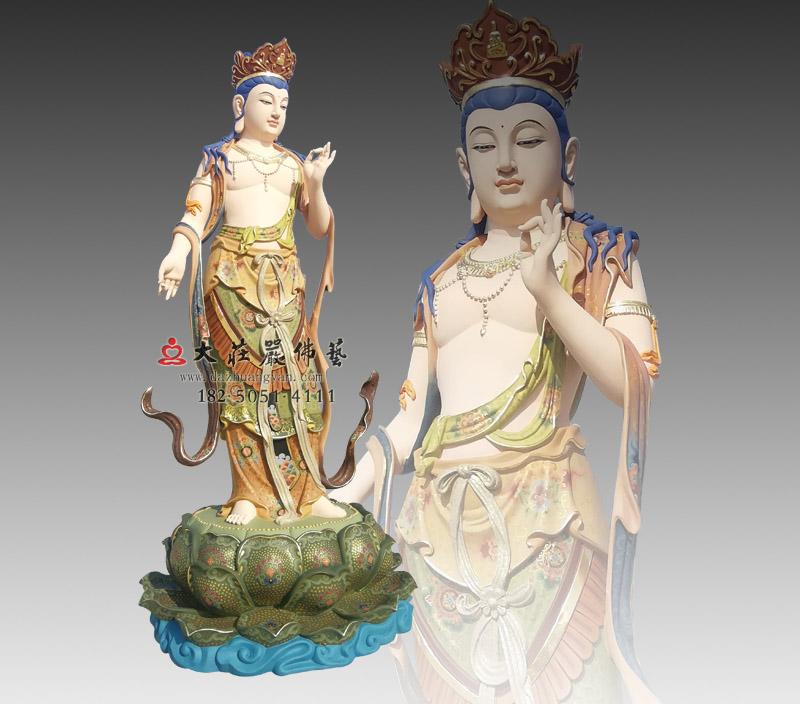八大菩萨之弥勒菩萨彩绘铜雕佛像