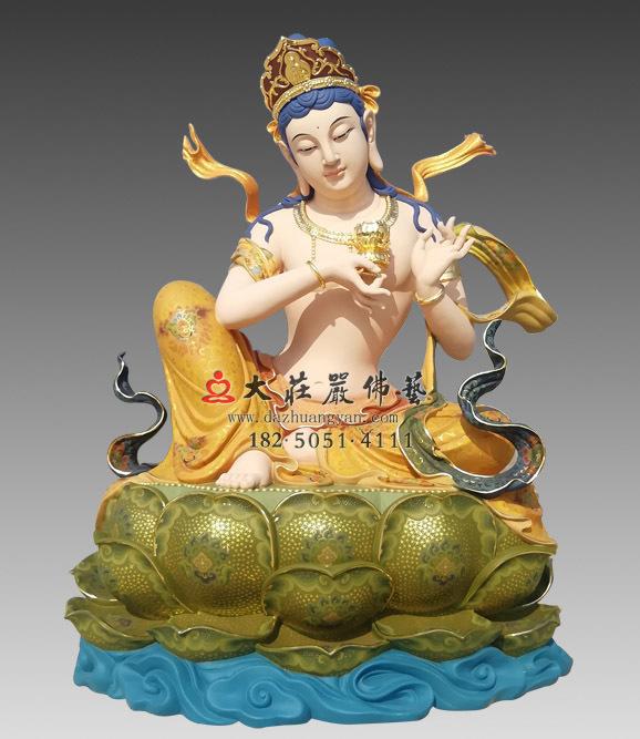 供养菩萨彩绘佛像