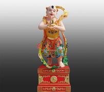 铜雕月天使彩绘塑像