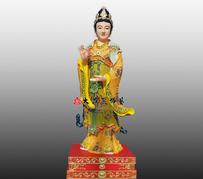娘娘站像彩绘铜雕神像