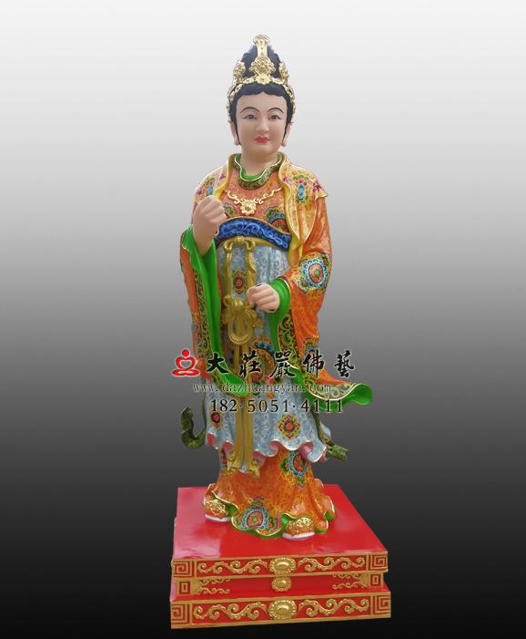侍女彩绘塑像