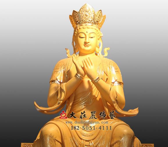 彩绘天宫弥勒铜雕佛像