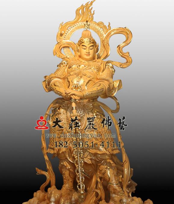 韦驮菩萨彩绘塑像