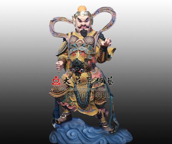 托塔李天王彩绘铜雕神像