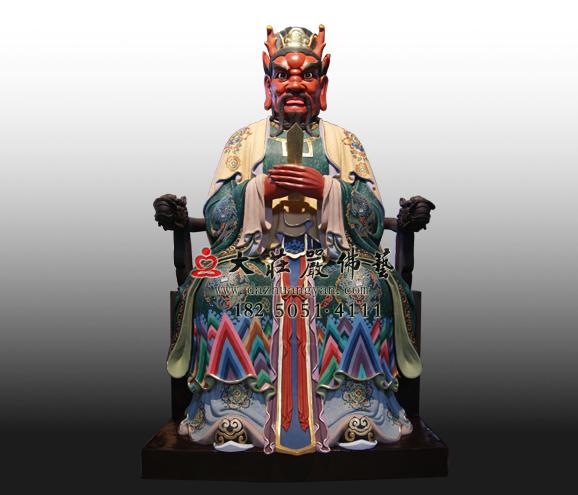 铜雕龙王彩绘塑像