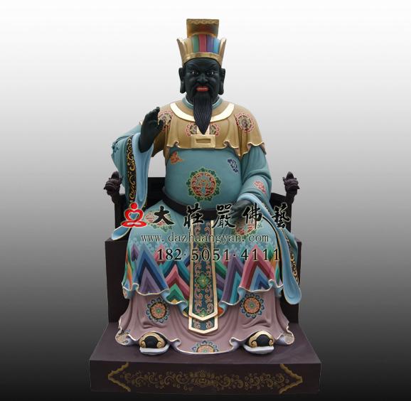 铜雕十殿阎王之四殿五官王彩绘塑像