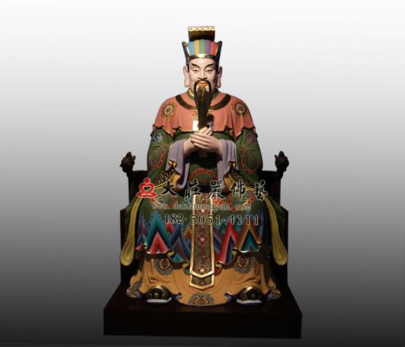 十殿阎王之八殿都市王彩绘铜雕神像