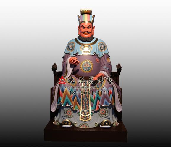 十殿阎王之十殿转轮王彩绘铜雕神像