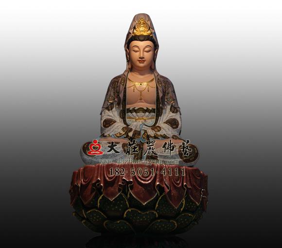 观世音菩萨彩绘铜雕佛像