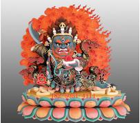铜雕玛哈嘎拉彩绘佛像