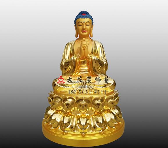 毗卢遮那佛铜雕贴金佛像