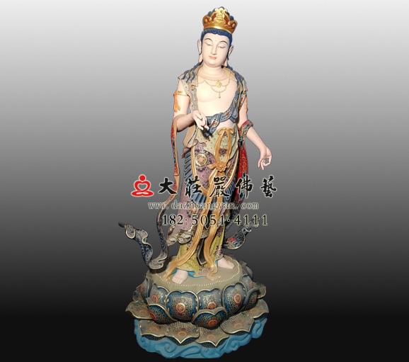 八大菩萨之除盖障菩萨铜雕彩绘佛像