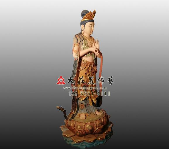 八大菩萨之地藏菩萨铜雕彩绘佛像