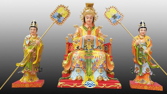 妈祖铜雕彩绘神像