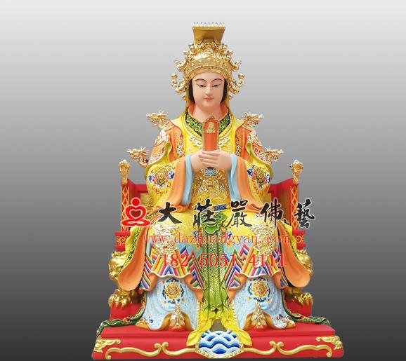 妈祖娘娘铜雕彩绘神像