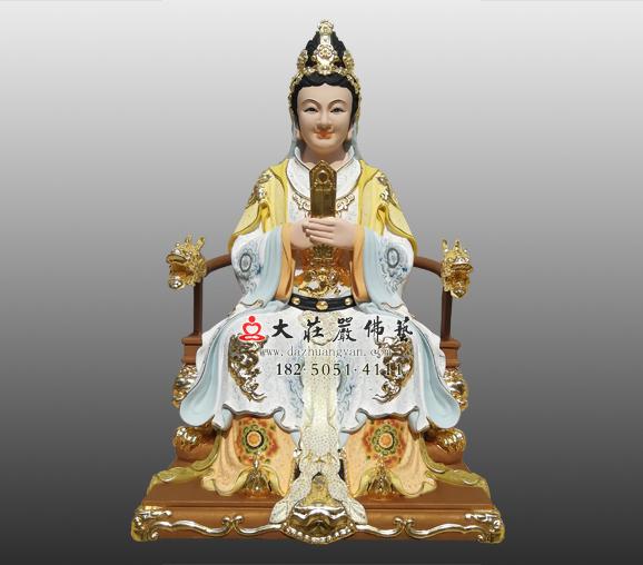宝玉娘娘铜雕彩绘神像