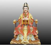 顺天圣母铜雕彩绘神像