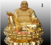 弥勒佛铜雕贴金佛像