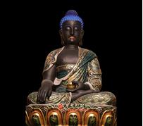释迦牟尼佛生漆脱胎彩绘佛像