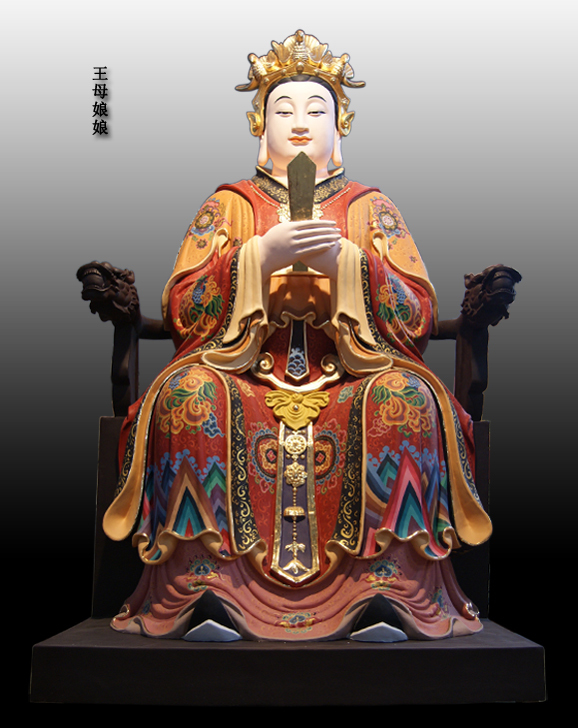 王母娘娘彩绘神像