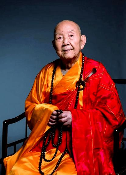 百岁高僧,中国佛教协会咨议委员会主席新成长老2021年4月4日于广州光孝寺安详归寂