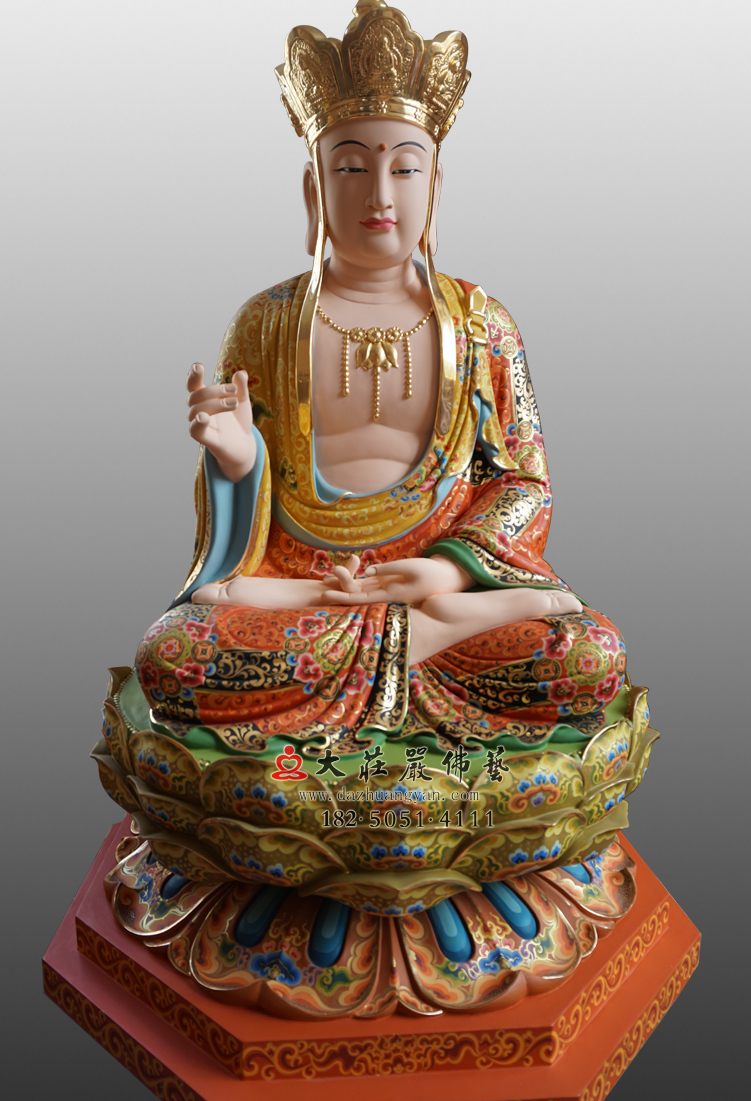 彩绘描金地藏王菩萨