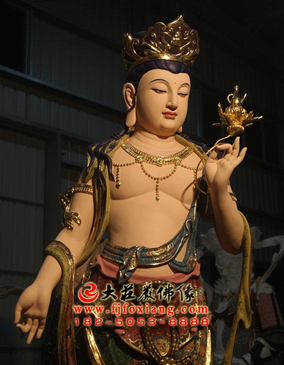 彩绘描金八大菩萨之弥勒菩萨