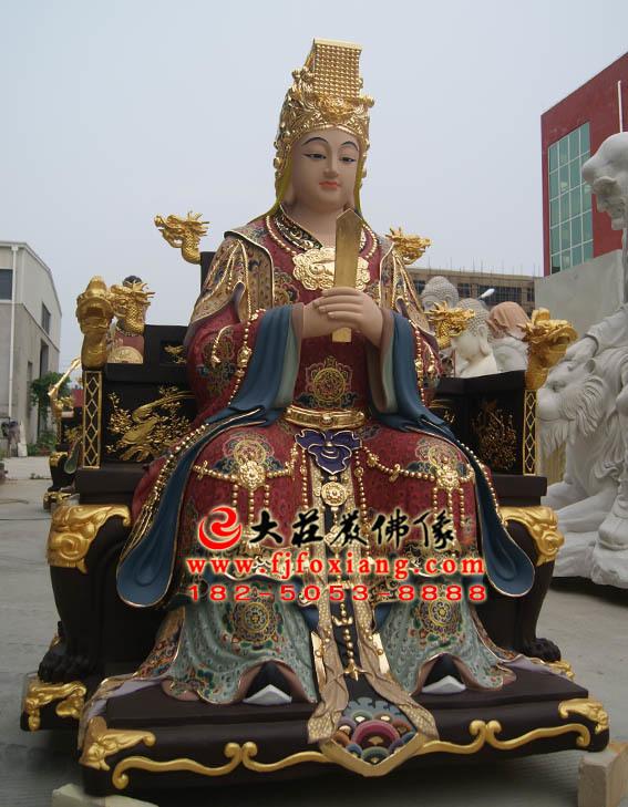 林九娘铜雕彩绘塑像