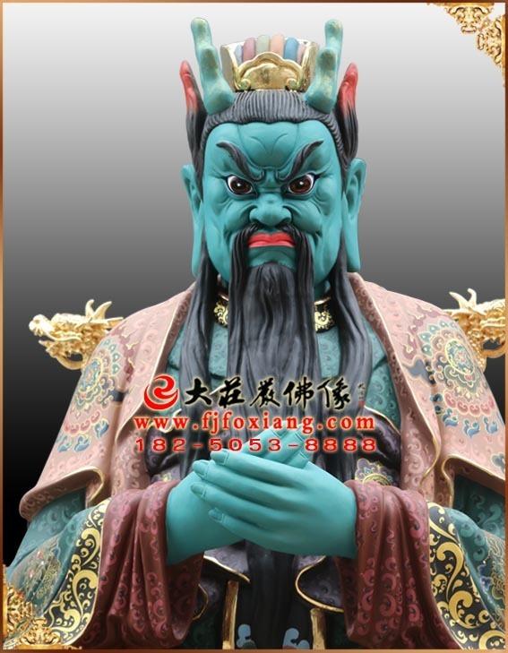 龙王彩绘描金