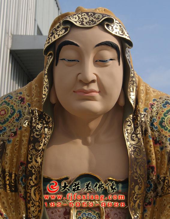 彩绘描金伐那婆斯尊者塑像
