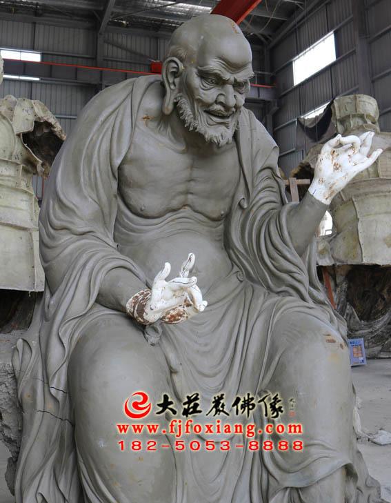 宾度罗跋罗堕尊者泥塑像